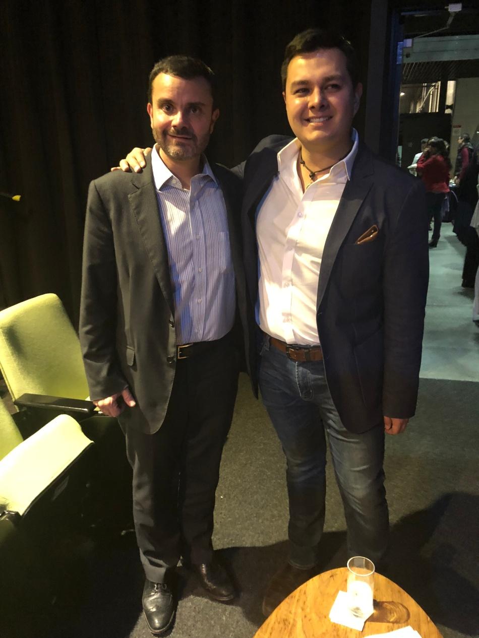 Juan Francisco Aguilar, director general y vicepresidente del segmento comercial de Dell EMC México. y Rodrigo Hernández Arauz, consultor de National Conference of Governors;