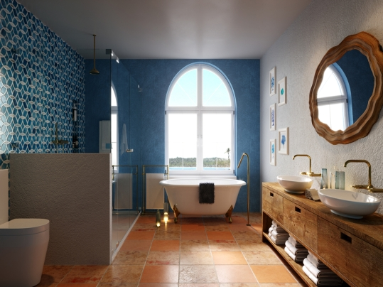 Mediterranean bathroom_副本