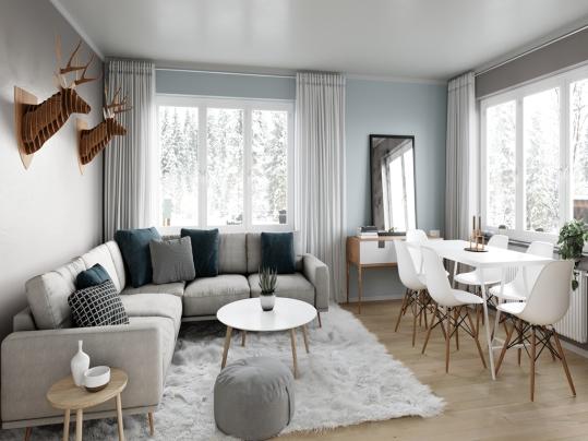 Scandinavian simplicity living room_副本