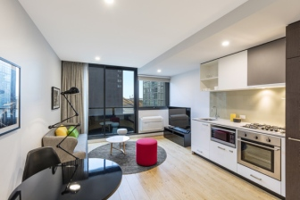 Oaks Southbank Hotel Melbourne 1 Bedroom Kitchen Dining Living 1.jpg