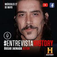 History entrevista a Óscar Jaenada en el ciclo de #EntrevistaHistory